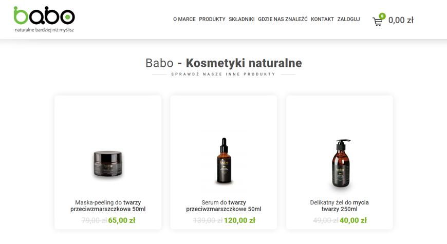 Naturalne kosmetyki babo sklep internetowy #2